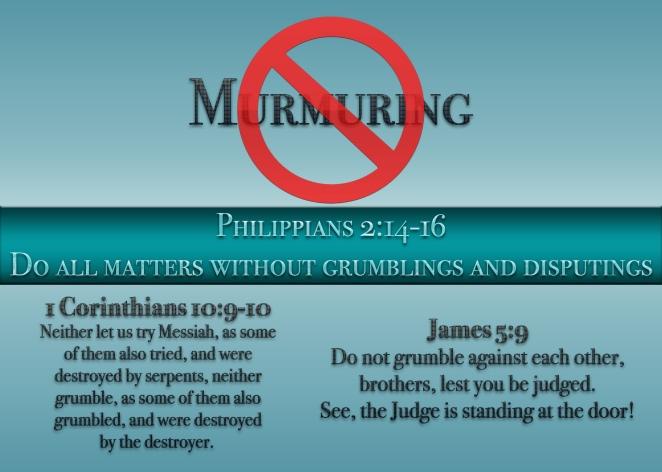 No Murmuring